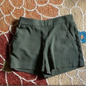 Loft Green Fluid Shorts